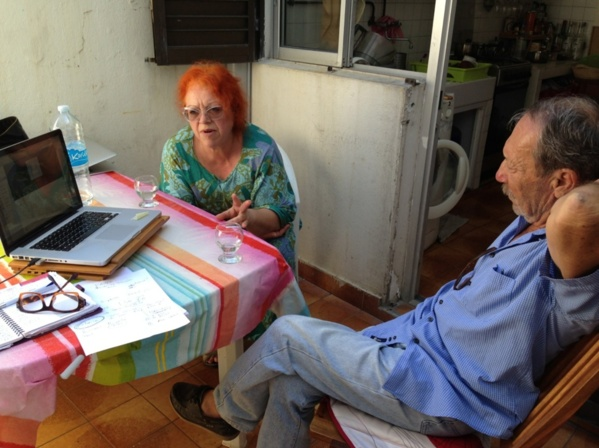 L'Artocarpe's AGMx was held with the New president via Skype. L'Artocarpe artistic Director, Régine Cuzin (left) and L'Artocarpe's previous Chair, Lana Kustova were both in Guadeloupe to assist L'Artocarpe.