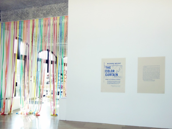 The Colour curtain, a view of Nathalie Muchamad exhibition. Photo: DR