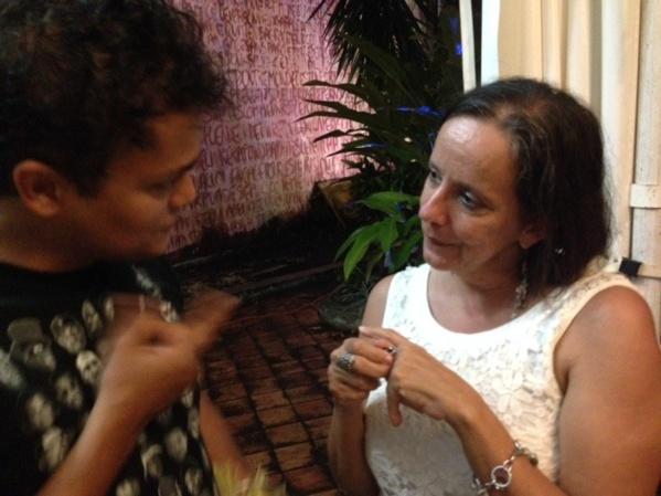 In discussion with Maria de Tolentino, art critic
