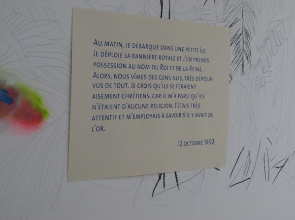 Artwork from Nathalie Muchamad, currently in residence at L'Artocarpe