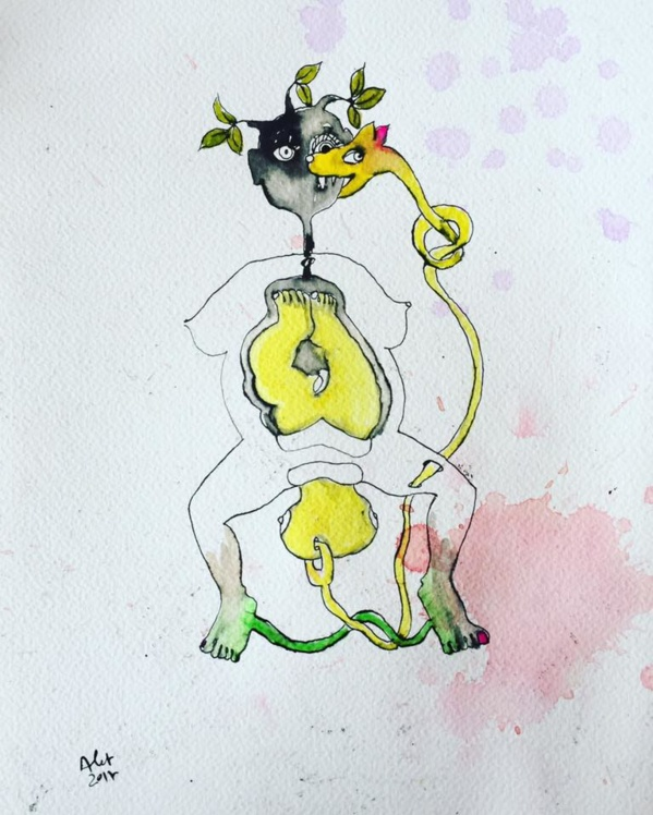 """Artwork from Thierry Alet from the series """"Daily drawings"""". Copyright: Thierry Alet"""