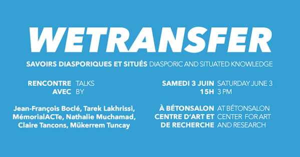 Another major event with L'Artocarpe members was taking place in Paris on Saturday 3rd June 2017, with Nathalie Muchamad in charge of getting institutions to the WeTransfer project...Welldone!...