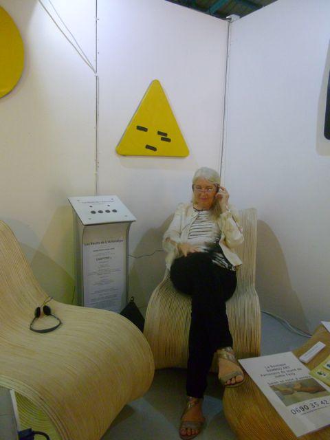 Catherine Lacki enjoying the story telling
