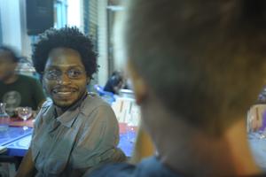 Mario Lewis au dîner-conférence de L'Artocarpe, Juin 2009, Le Moule, Guadeloupe