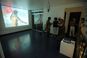 Exhibition launch - artwork by Philippe Virapin