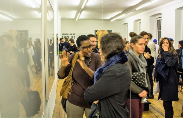 """Opening of the show """"Tomorrow Is Cancelled"""" at Krinzinger Projekte, Vienna, Austria during the residency"""