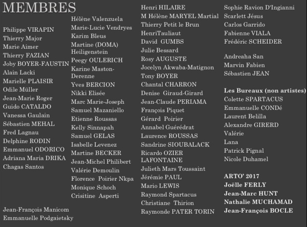 Liste des membres en 10 ans / The Members' list over our 10 years of existence