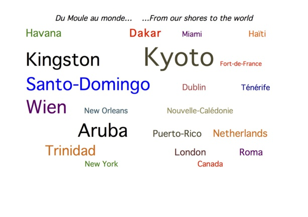 Some of the 20+ countries involved in our art exchanges