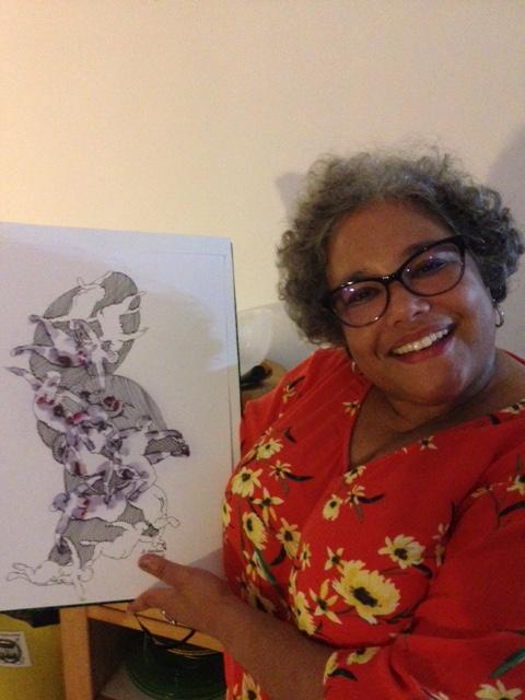 Hilary Jones a remporté l'oeuvre d'Ernest Breleur (Martinique). Hilary repart à Miami avec une oeuvre du maître...
