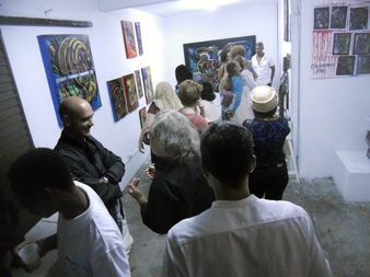 Karim Bléus's second Private view at L'Artocarpe.
