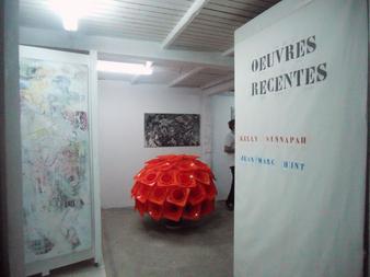 Exposition des deux artistes à l'atelier de Jean-Marc Hunt en novembre 2012. Kelly Sinnapahmary est membre de L'Artocarpe
