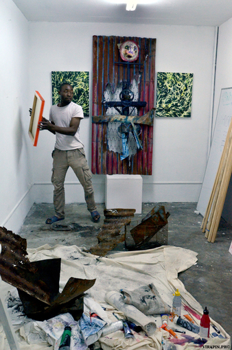 Sebastien Jean, artist in residence at L'Artocarpe until May 2012