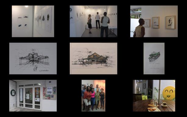 Exposition de Gustave Bassières à L'Artocarpe. Clickez le lien pour activer la video sur L'Artocarpe. Click to discover L'Artocarpe.