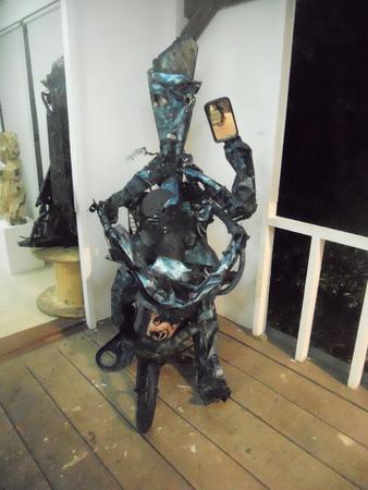 Sculpture de Sébastien travaillée dans l'atelier de François Piquet