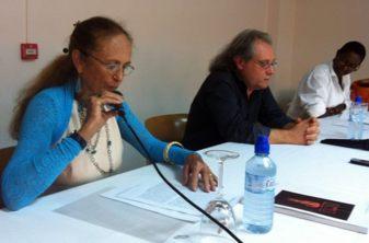 Scarlett Jesus en conférence avec Dominique Berthet et Joëlle Ferly- 2011