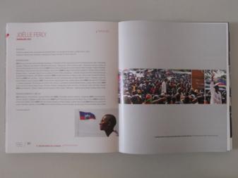 """Le catalogue de la Biennale ouvert à la page """"Guadeloupe"""" et présentant les photos de Josué Azor www.revayiti.com"""