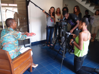 Younsters conducted the entire filming under the supervision of Patrick Philogène, a professional