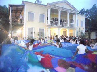 Performance au vernissage du Pavillon de la Ville de Pointe-à-Pître.