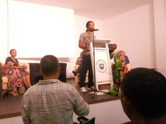 Notre collègue Jean-Marc Hunt, fondateur de Art Bemao, manifestation d'art contemporain pour la ville de Baie-Mahault