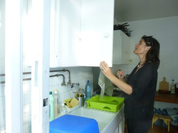 Just arrived at L'Artocarpe, Florence Poirier NKPA is to stay one month at L'Artocarpe. She is settling fine...