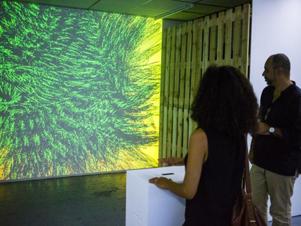 Vidéo interactive de David Gumbs, présentée à la galerie 1461