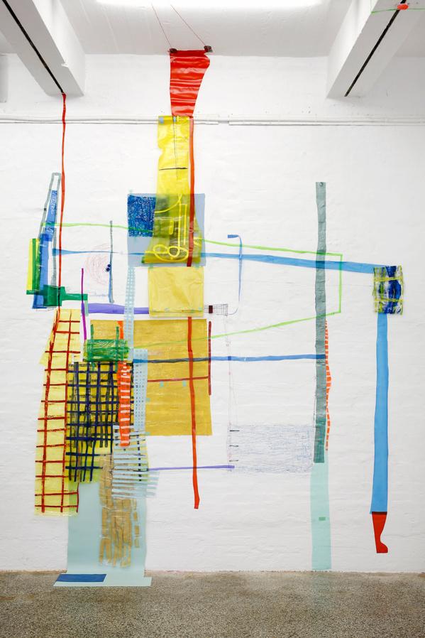 Oeuvre de l'artiste Ivelisse Jimenez, actuellement en résidence à L'Artocarpe