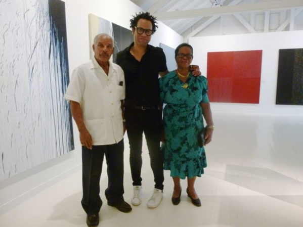 Sebastien Mehal with his parents, proud of their son...