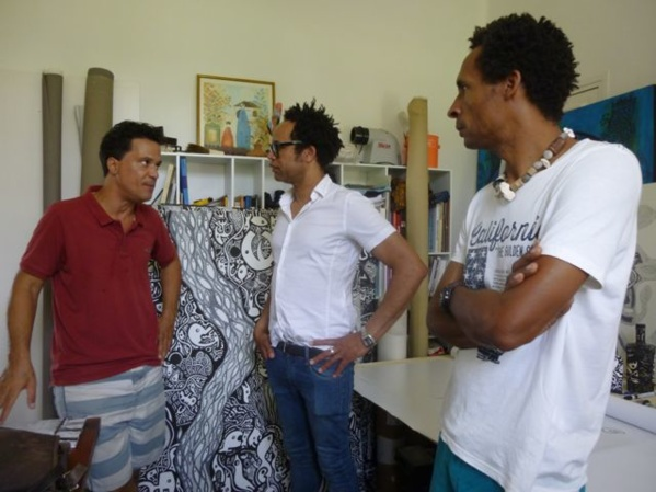 L'Artocarpe's network: at Ricardo Ozier-Lafontaine's studio, during the meeting of L'Artocarpe members