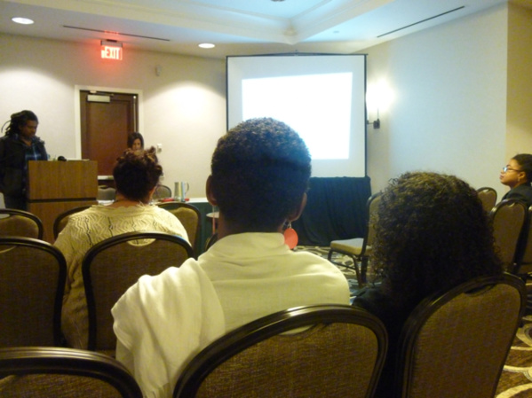 Daniel Goudrouffe (photographer, Guadeloupe - USA) delivering his conference.