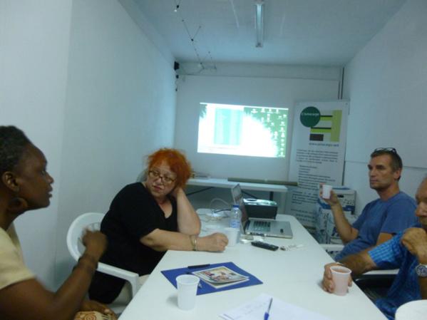 Hellen Rugard, consultante en ingénierie culturelle, présentant ses services à L'Artocarpe