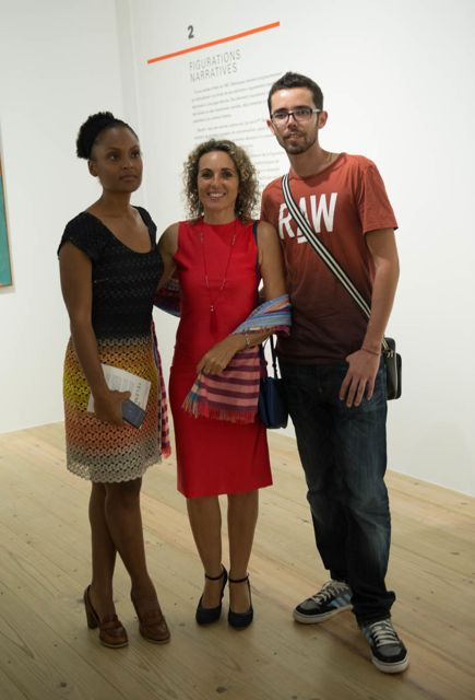 3 members of L'Artocarpe at the exhibition of Hervé Télémaque at Fondation Clément, our Secretary Valérie, Hélène a photographer and Treasurer Alexandre.