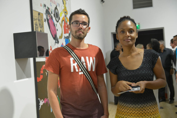 L'Artocarpe's new secretary, Valérie (R) with L'Artocarpe treasurer, Alexandre, at the launch of the new Clément Foundation