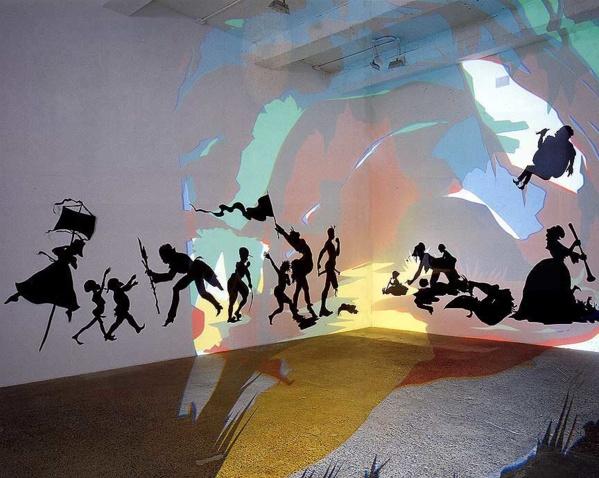 Oeuvre de l'artiste Kara Walker dont la pratique sera présentée par Joëlle Ferly