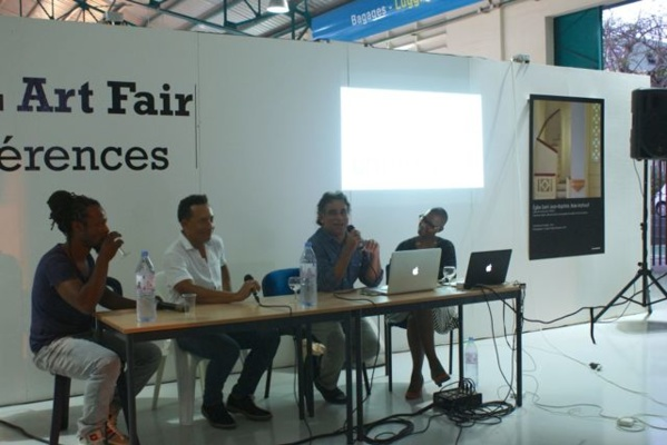 Conference with Jean-Marc Hunt (Artbemao), Thierry Alet (PooL Art Fair) and Jo Ferly (L'Artocarpe)