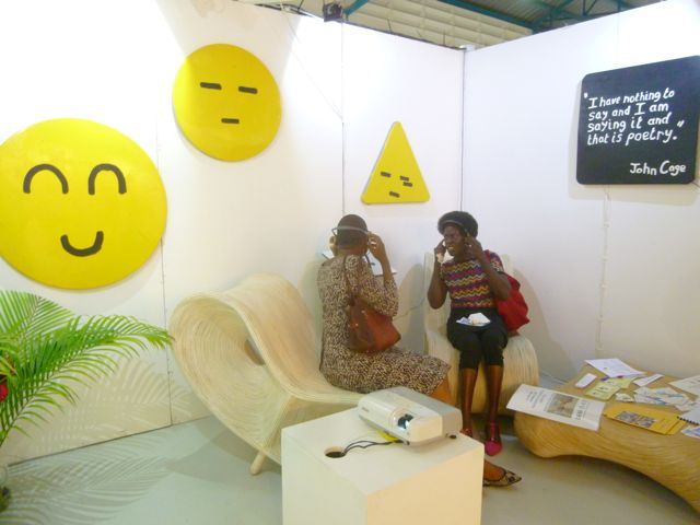 Joëlle Ferly's booth at the PooL Art Fair