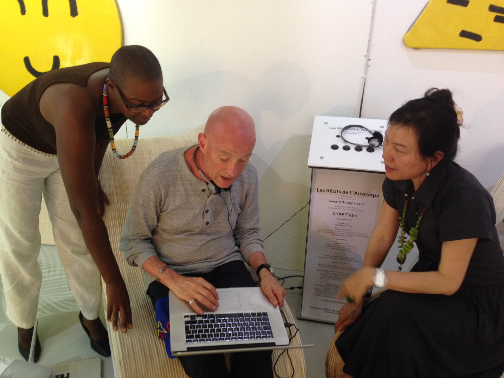 With André Rouillé, ParisART founder and curator Louise Tsai
