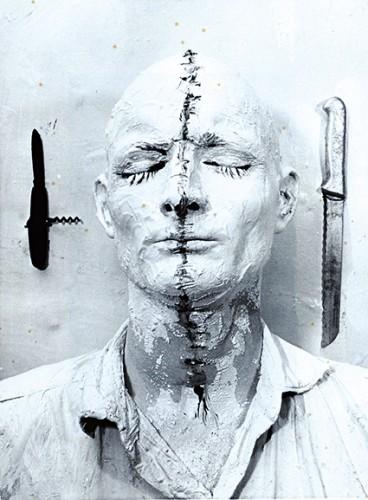 Günter Brus Selbstbemalung, 1964 Photography 19 x 11.5 cm Konzett Gallery, Vienna , Günter Brus / Ludwig Hoffenreich