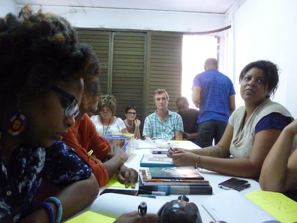 Les ateliers à L'Artocarpe avec des correspondants de Miami
