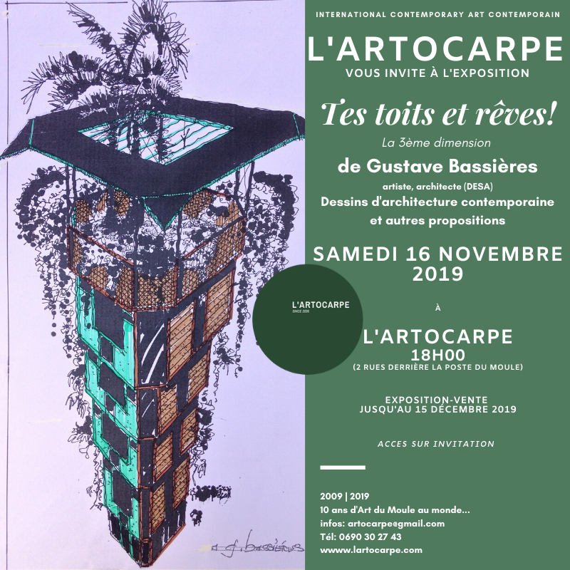 Exhibition until Dec. 15th 2019. Click on link to discover the video. Activez la vidéo de Gustave Bassières.