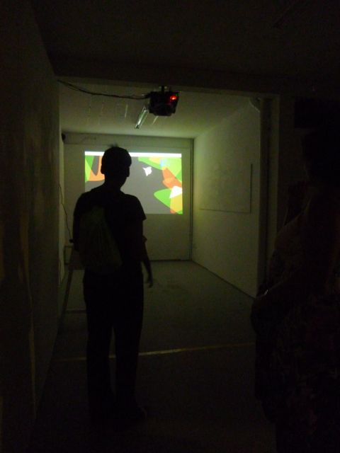 Kinect was on during the opening of the exhibition of Henri Tauliaut at L'Artocarpe, on Saturday 25th October 2014.