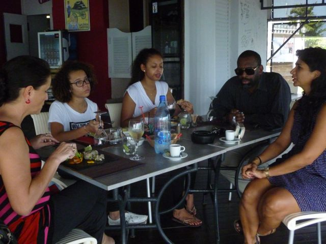 The artist has visited Pointe-à-Pitre and got the chance to speak to locals