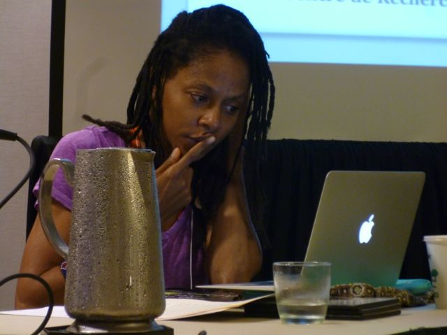 Martiniquean writer Fabienne Kanor in New Orleans about to start her conference for the Caribbean Studies Association in New Orleans, where she now lives.