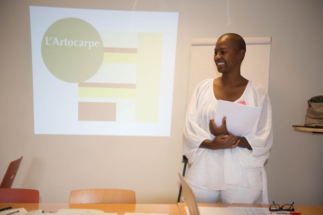 First Chair of L'Artocarpe, Joëlle Ferly is passing the baton to the younger generation. Joëlle will be focusing on her own art practice for 2016. She remains the sole founder of L'Artocarpe
