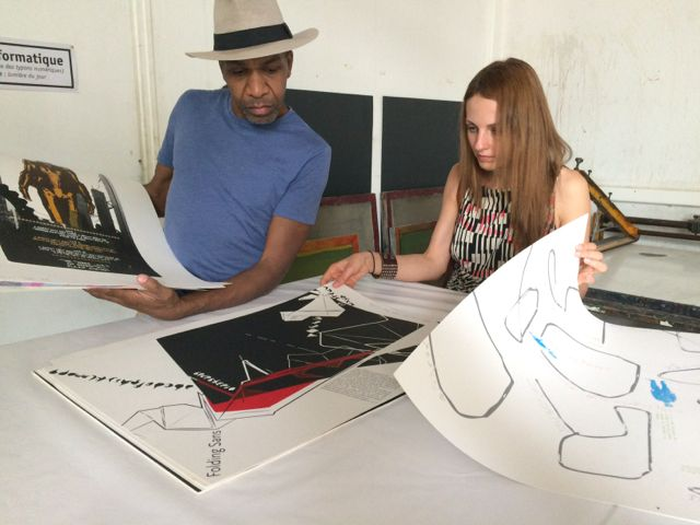 Lana on her visit to the art school of Martinique
