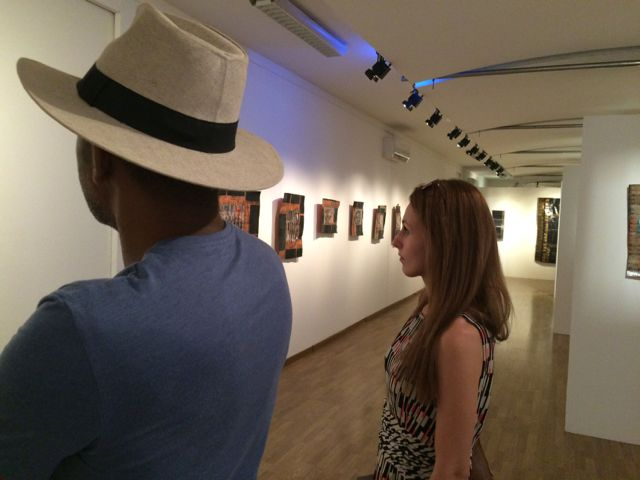 Lana and husband Fred-Alex visiting artist Valérie John's exhibition. Martinique