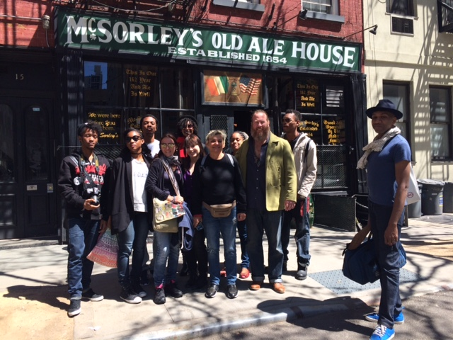 Art Students from Martinique enjoying big Apple
